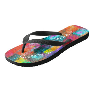 Christ Liveth In Me Flip Flops