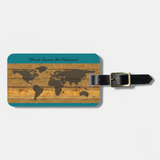 Christ Loves the Nations Luggage Tag Map