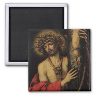 Christ, Man of Sorrows, 1641 (oil on canvas) 2 Inch Square Magnet