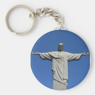 Christ of the Andes Basic Round Button Keychain
