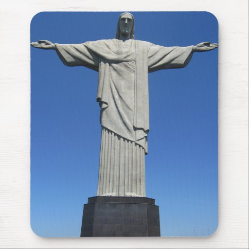 Christ of the Andes Mouse Pad