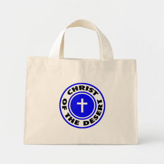 Christ of the Desert Canvas Bags
