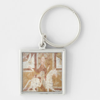 Christ on a White Horse Keychain