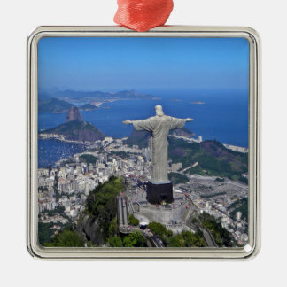CHRIST ON CORCOVADO MOUNTAIN METAL ORNAMENT