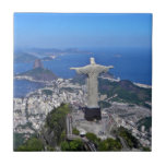CHRIST ON CORCOVADO MOUNTAIN SMALL SQUARE TILE