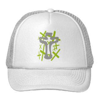 Christ on green crosses TIF Trucker Hat