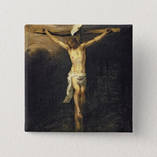 Christ on the Cross, 1672 Button