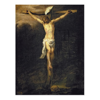 Christ on the Cross, 1672 Postcard