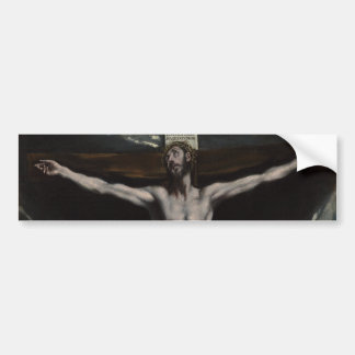 Christ on the Cross by El Greco Bumper Sticker