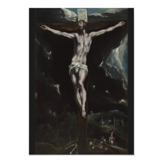 Christ on the Cross by El Greco Card