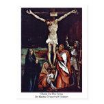 Christ On The Cross By Mathis Grunewald Gothart Postcard