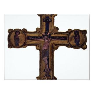 Christ On The Cross By Meister Des Reliquienkreuze 4.25x5.5 Paper Invitation Card
