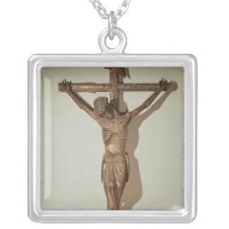 """Christ on the Cross, called """"Le Devot Christ"""" Silver Plated Necklace"""