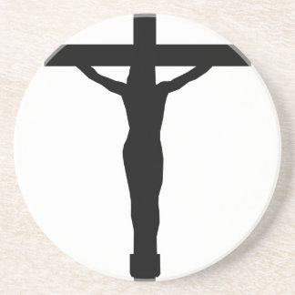 Christ on the cross drink coaster