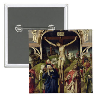 Christ on the Cross, the Holy Women Button