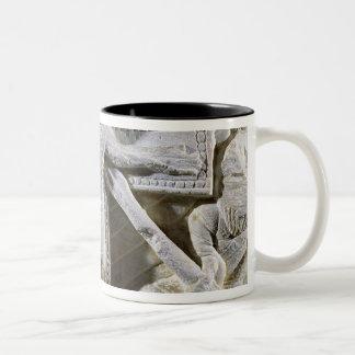 Christ on the Cross Two-Tone Coffee Mug