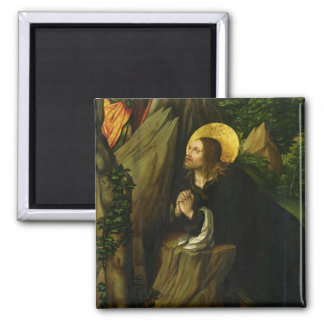 Christ on the Mount of Olives, 1505 2 Inch Square Magnet