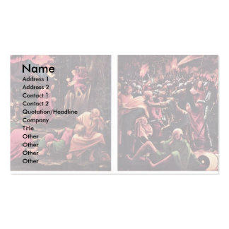 Christ On The Mount Of Olives Business Card Template