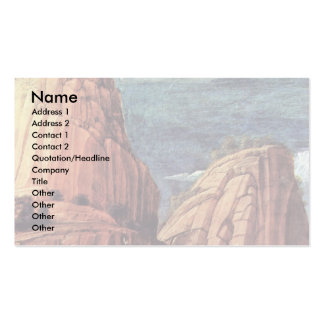 Christ On The Mount Of Olives  By Andrea Mantegna Double-Sided Standard Business Cards (Pack Of 100)