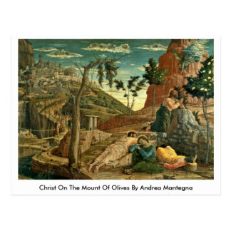Christ On The Mount Of Olives By Andrea Mantegna Post Card