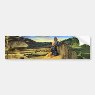 Christ on the Mount of Olives by Bellini Bumper Sticker