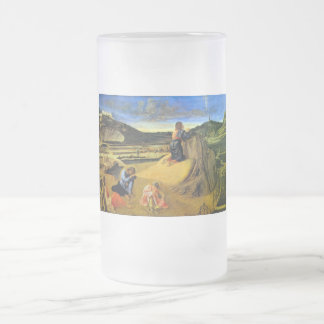 Christ on the Mount of Olives by Bellini Frosted Glass Beer Mug