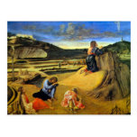 Christ on the Mount of Olives by Bellini Post Card
