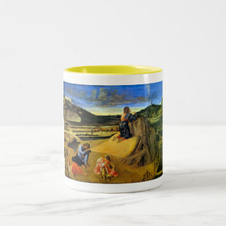 Christ on the Mount of Olives by Bellini Two-Tone Coffee Mug