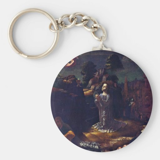 Christ On The Mount Of Olives By Gossaert Jan (Bes Keychains