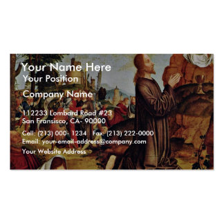 Christ On The Mount Of Olives By Meister Von St. S Business Cards