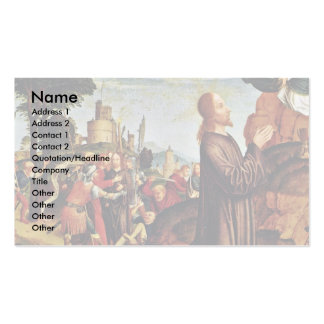 Christ On The Mount Of Olives By Meister Von St. S Business Card Template