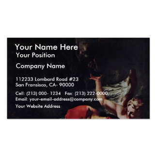 Christ On The Mount Of Olives By Troger Paul Business Card Template
