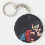 Christ On The Mount Of Olives By Troger Paul Keychain