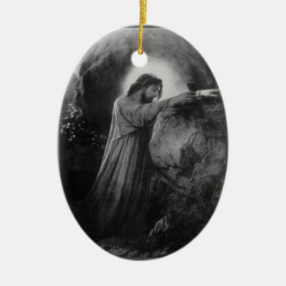 Christ On The Mount Of Olives Ceramic Ornament