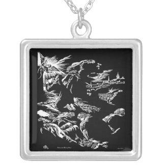 Christ on the Mount of Olives Vintage Art Necklace