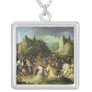 Christ on the Road to Calvary Silver Plated Necklace
