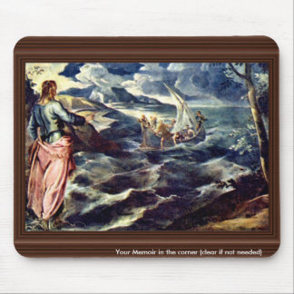 Christ On The Sea Of Galilee By Tintoretto Jacopo Mousepads