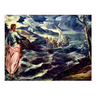 Christ On The Sea Of Galilee By Tintoretto Jacopo Postcard