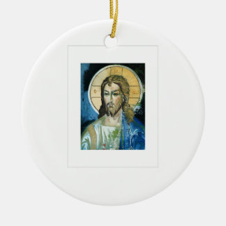Christ Double-Sided Ceramic Round Christmas Ornament