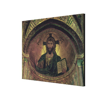 Christ Pantocrat in the apse Canvas Print