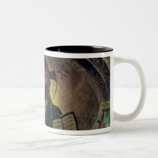 Christ Pantocrat in the apse Two-Tone Coffee Mug