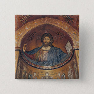 Christ Pantocrator and the Madonna Button