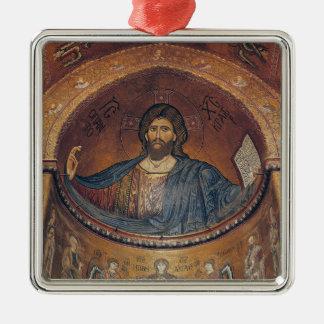 Christ Pantocrator and the Madonna Metal Ornament