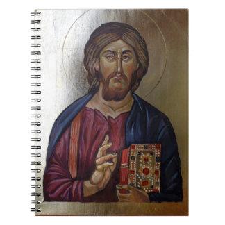 Christ Pantocrator - Byzantine Style Icon Notebook