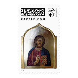 Christ Pantocrator - Byzantine Style Icon Postage Stamp