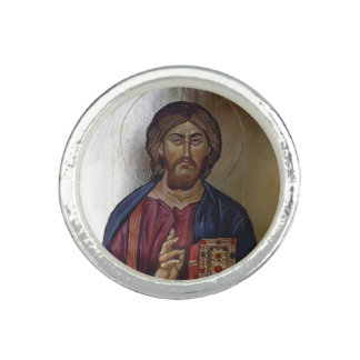 Christ Pantocrator - Byzantine Style Icon Rings