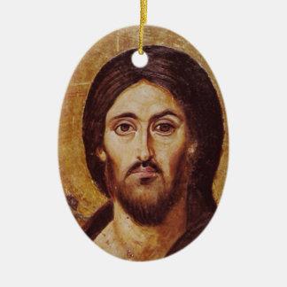 Christ Pantocrator Ceramic Ornament