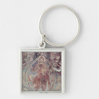 Christ Pantocrator, from the apse Silver-Colored Square Keychain