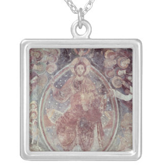 Christ Pantocrator, from the apse Silver Plated Necklace
