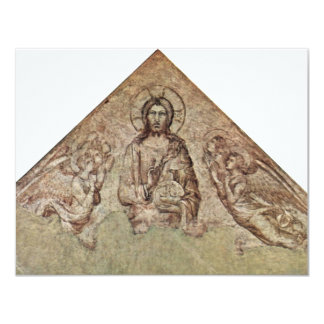 Christ Pantocrator With Angels Fragment By Martini 4.25x5.5 Paper Invitation Card